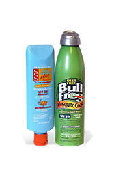 No Combined Sunscreen and Bug Repellants