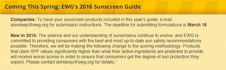 2016 Sunscreen Report Coming Soon!