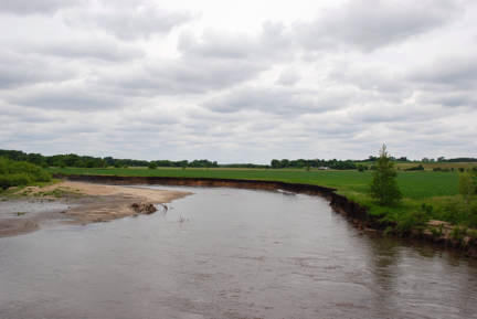 Picture of stream erosion.