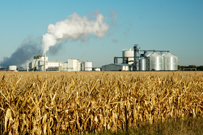 Ethanol plant in South Dakota.