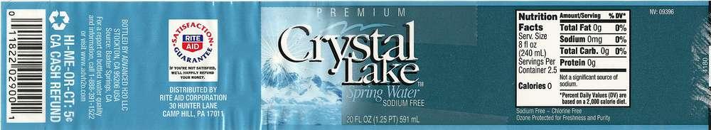 Crystal Lake Spring Water Label