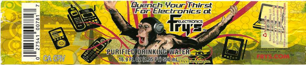 Fry's Purified Drinking Water Label