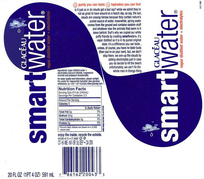 Glaceau Smartwater Label
