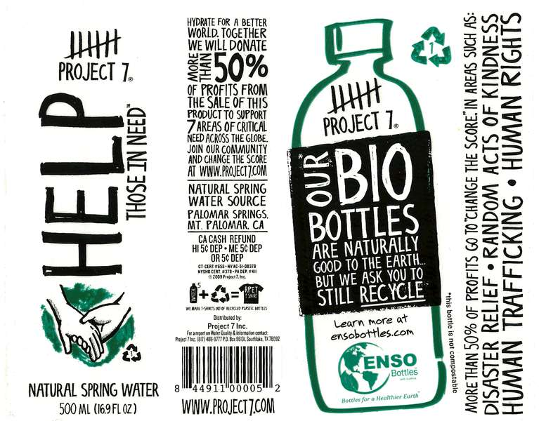 Project 7 Help Those in Need Natural Spring Water Label