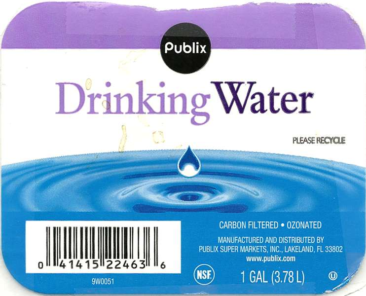 Publix Drinking Water Label