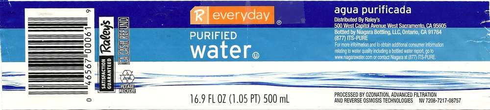 R Everyday Purified Water Label