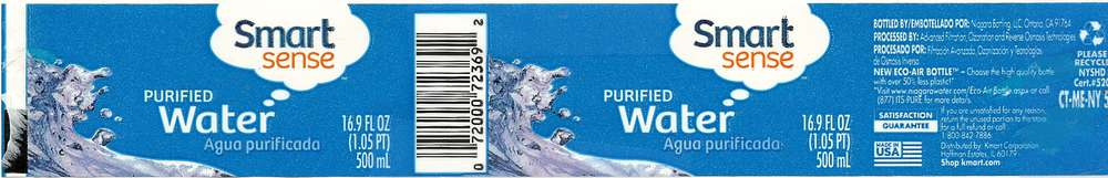 Smart Sense Purified Water Label