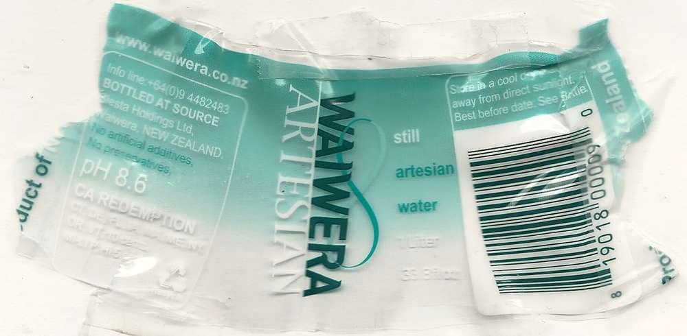 Waiwera Still Artesian Water Label