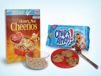 Honey nut Cheerios and Chips Ahoy