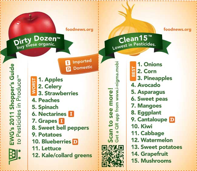 Buying Organic: The Dirty Dozen and Clean 15 - Mom On Timeout