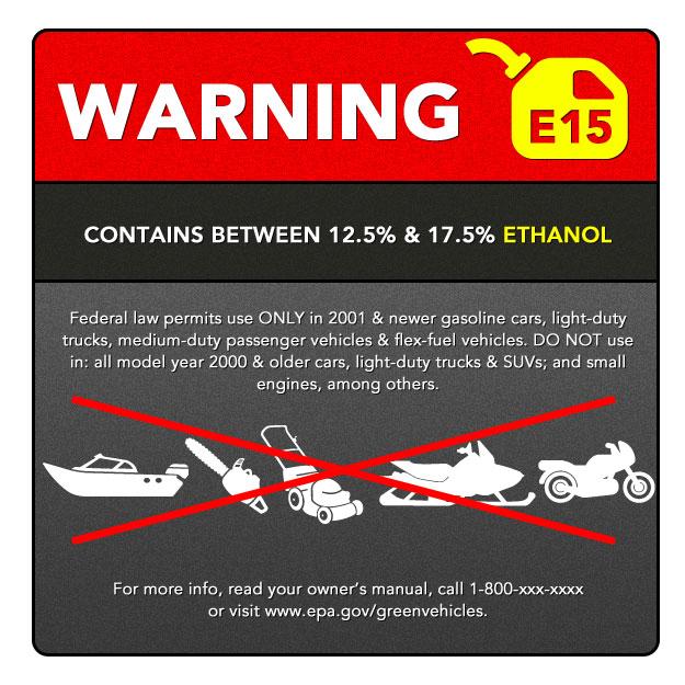 proposed ewg ethanol warning label