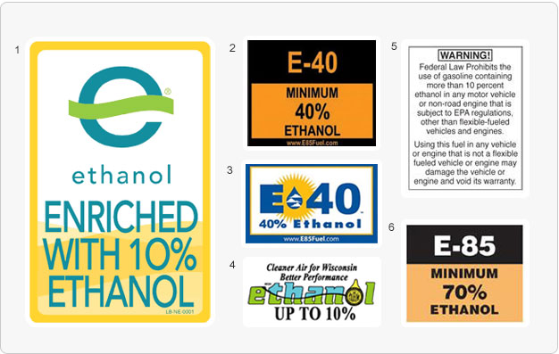 examples of voluntary warning labels for ethanol fuel