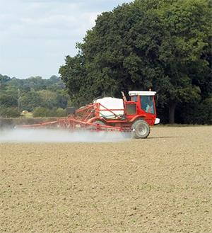 Farm being sprayed