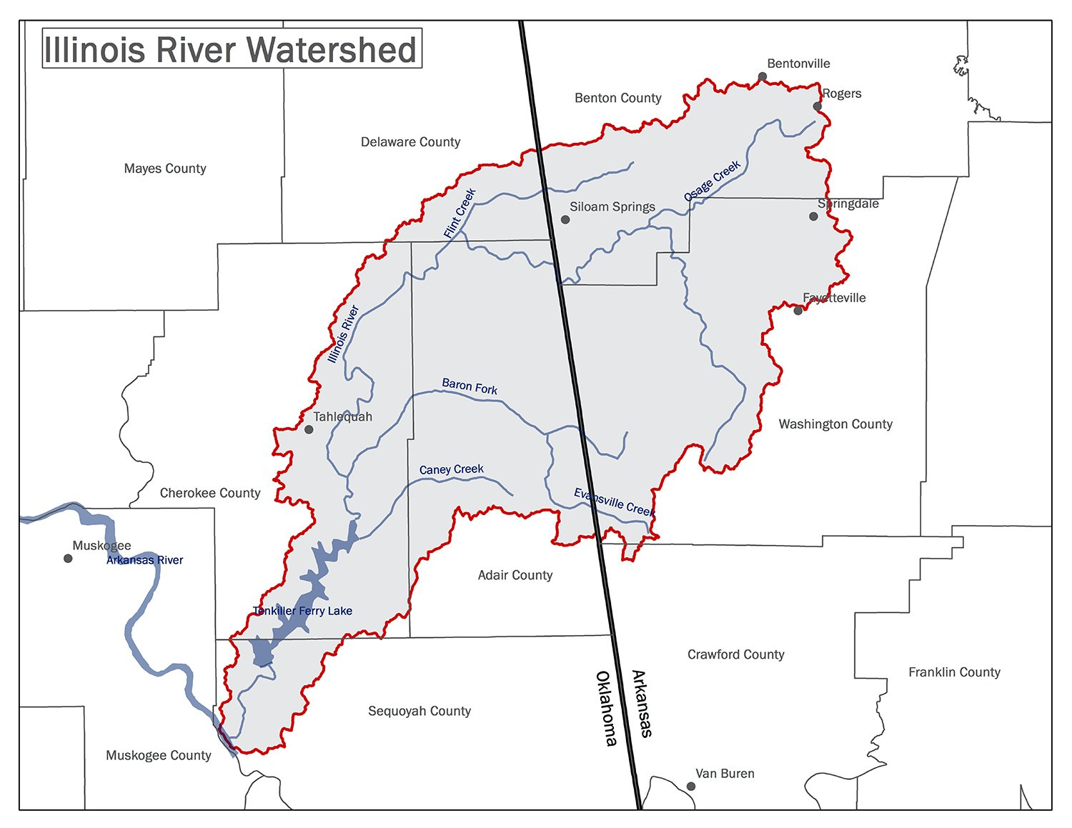 Illinois River Watershed Map