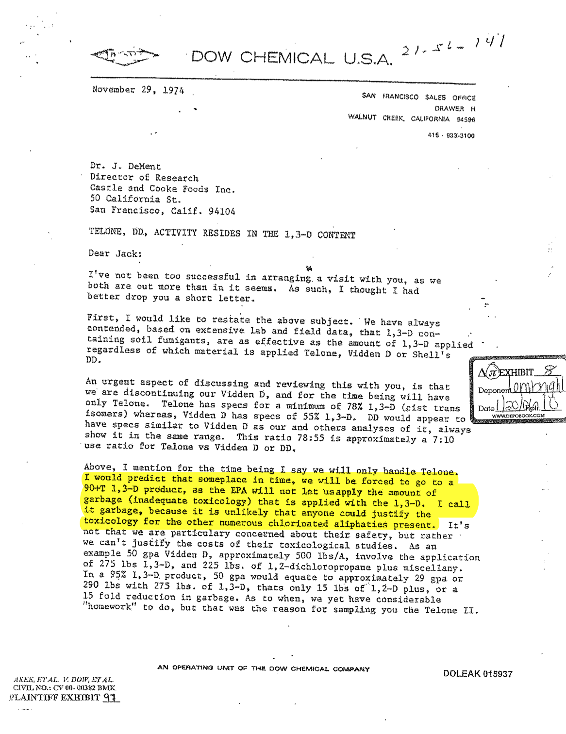 Dow Chemical document