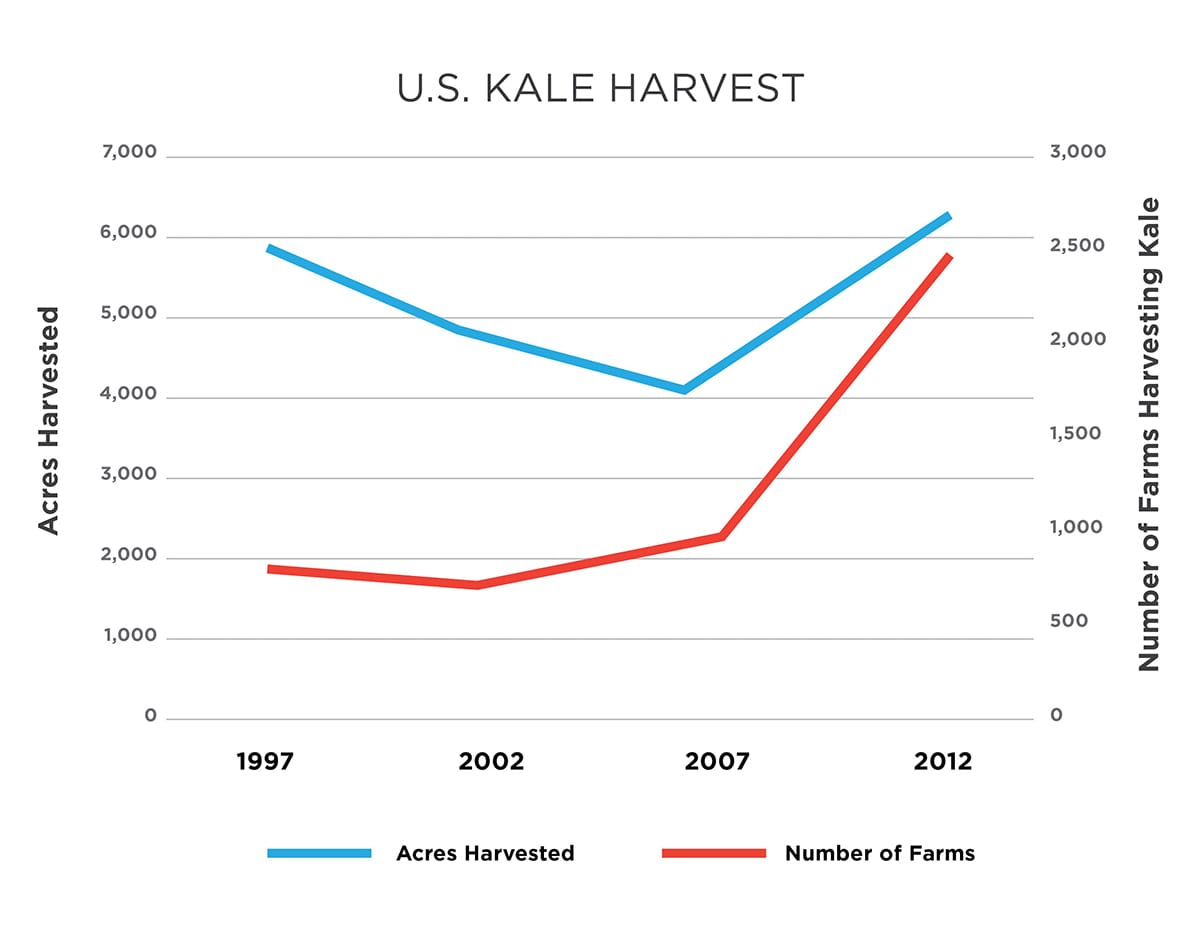 U.S. Kale Harvest Chart