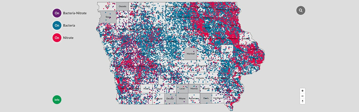 Interactive Map: Iowa's Wells Contaminated by ... on