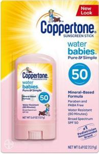 e8c6f32ae Coppertone Water Babies Pure   Simple Mineral-Based Sunscreen Stick