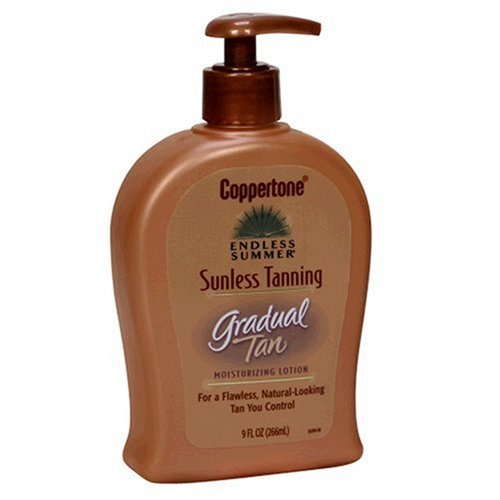 coppertone sunless tanning gradual tan moisturizing lotion skin