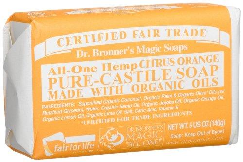 Dr  Bronner's All-One Hemp Pure-Castile Soap, Citrus Orange