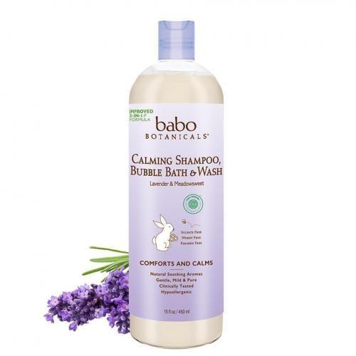 Ewg Skin Deep Babo Botanicals Calming Shampoo Bubble Bath Wash Lavender